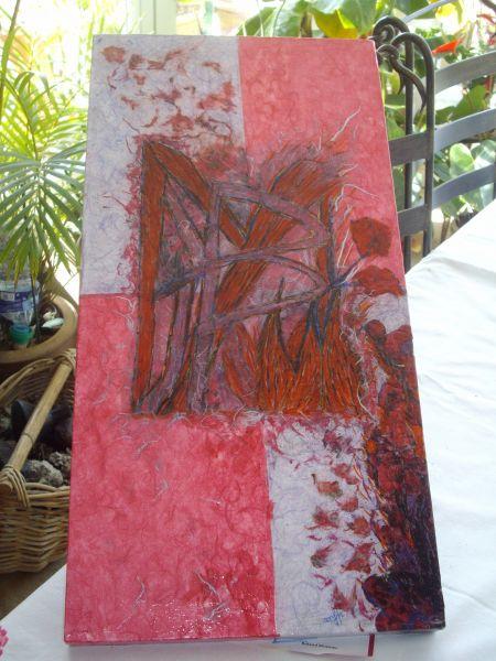 Quelques uns de mes tableaux et meubles en collage terre d aloe - Quelle terre pour aloe vera ...