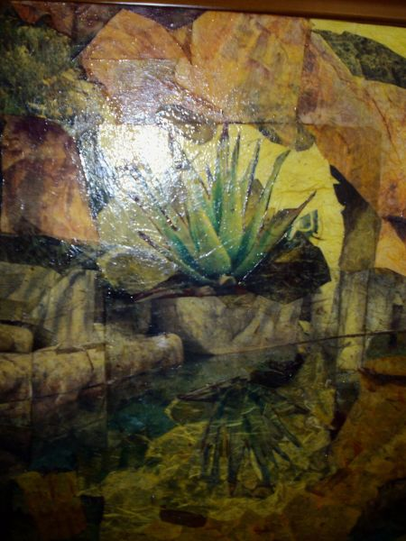 Quelques uns de mes tableaux et meubles en collage terre - Terre pour aloe vera ...